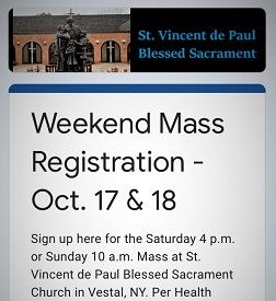 Online Mass registration