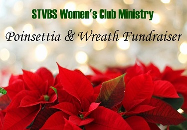 Poinsettia and wreath sale